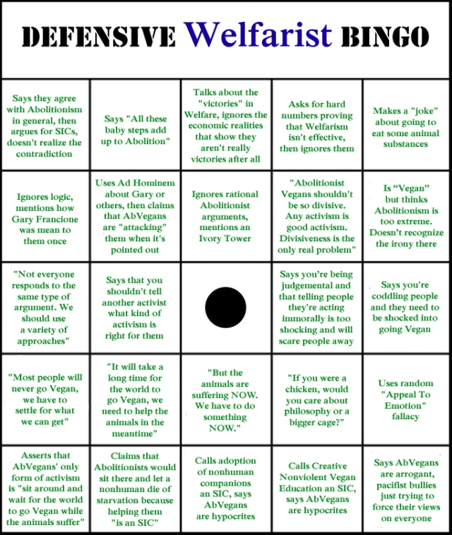 Defensive Welfarist Bingo 01